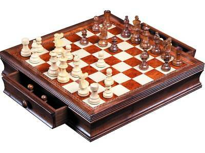 Dal Rossi Chess Set 16inch/40cm, With Boxwood/Sheesham 85mm pieces Wood Doubl...
