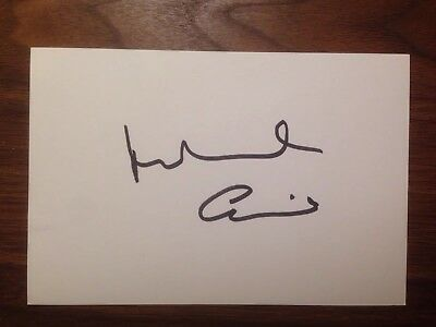 Michael Caine Signed Index Card