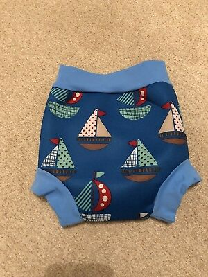 Splash about happy nappy medium Boys 3-8 Months Blue Ships - Used Once UPF 50+