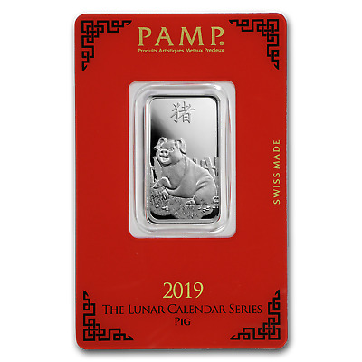 10 gram Silver Bar - PAMP Suisse (Year of the Pig) - SKU#173452