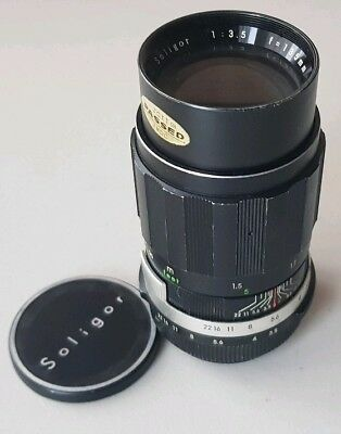 Vintage Soligor 135mm Telephoto/Portrait Fixed Prime Lens Pentax M42 Mount