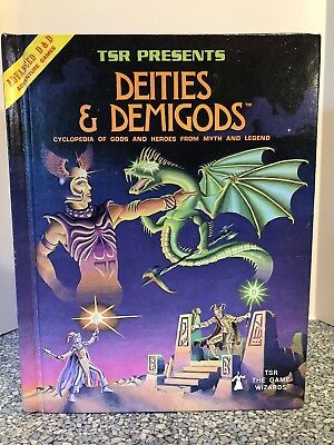 Advanced Dungeons & Dragons Deities and Demigods 1980 Hardcover Book 128 Pg