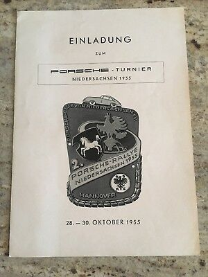 1955 Invitation To Porsche Rally, Niedersachsen Germany, October 28-30th 356 A