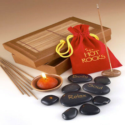 Romantic Spa Hot Rocks Gift Pack Set Scent Therapy Relaxing Hot Cold Massage Kit