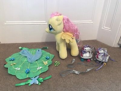 """*RARE* Build A Bear My Little Pony - Fluttershy 15"""" with Bundle of Accessories"""