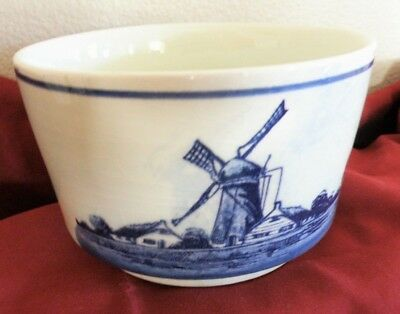 Vintage  Handpainted Delfts Blauw Bowl/Flower Pot  Made and purchased in Holland