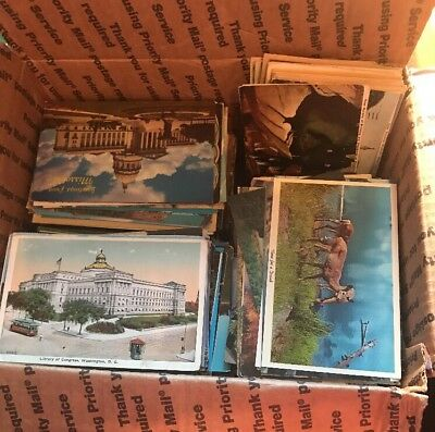 Huge Mixed Lot Of 1000+ Antique And Vintage Postcards 1900s- 1970s