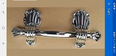 COFFIN HANDLES : Pair of vintage 8 inch chromed metal