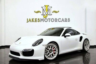 2015 Porsche 911 Turbo Coupe 2015 PORSCHE 911 TURBO COUPE ~ ONLY 14K MILES ~ ADV1 WHEELS ~ WHITE ON BLACK