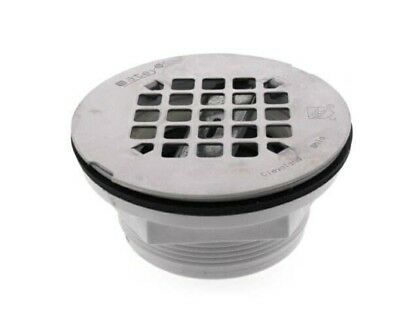 "2"" PVC No-Calk Shower Drain with Stainless Steel Strainer"