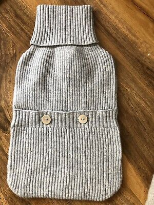 100% Cashmere Hot Water Bottle NEW