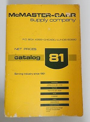 McMaster-Carr Industrial Hardware Supply Catalog #81 Chicago