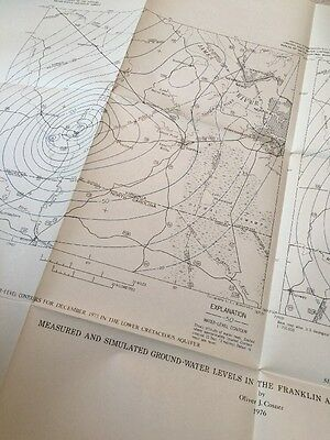 (5) 1976 Southeastern Virginia Dept Of Interior USA Geological Survey Maps Water