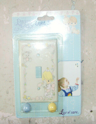 NEW NOS Precious Moments Light Switch Cover Plate Helper Girl and pet bunny VTG