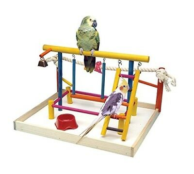 Penn-Plax Bird Toy Activity Center With Perches, Ladders, Bell, and Rope Large 1