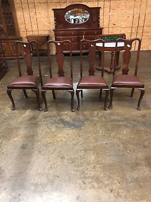 very nice set of mahogany queen anne chairs set of four very clean