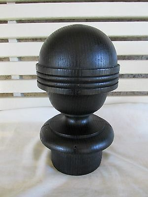 Grand Old Round Newel Post Finial, Larger Size, Old House Salvage