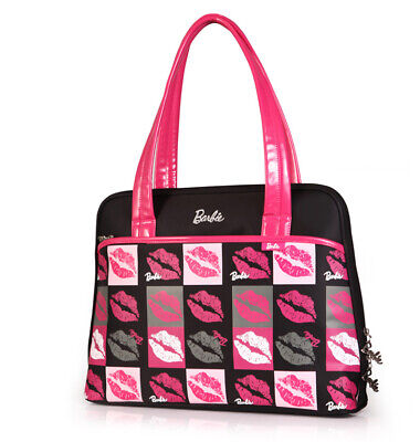 b60bab089d5d Women Shoulder Bag Tote Handbag Logo BARBIE Fans Black GIFT