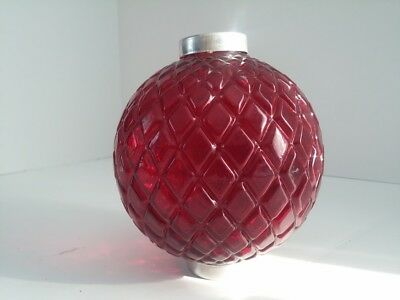 Ruby Red Glass Thompson Lightning Rod Ball Flat Quilt Weathervane Arrow Pointer