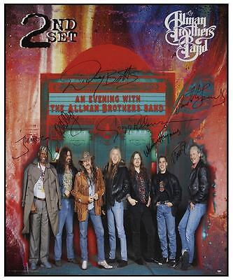 the Allman Brothers Band  - LIVE - POSTER  - AMAZING Image w/Autographs