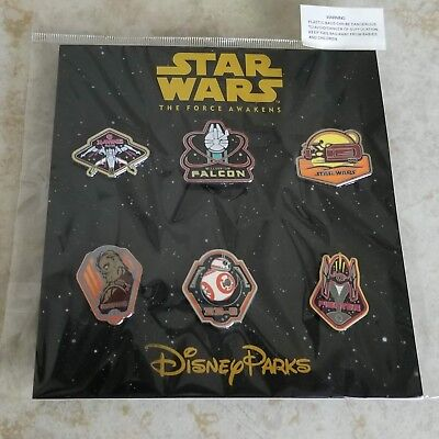 Pin Trading Disney Pins Lot of 6 Brand New Star Wars Force Awakens Set Movie BB8