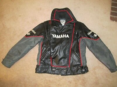 VTG Yamaha Snowmobile Ski-Doo Leather Jacket-Women's M