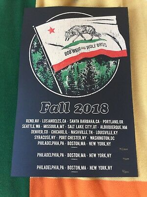 Bob Weir And The Wolf Brothers Official Tour Poster # 2000 Low Numbers