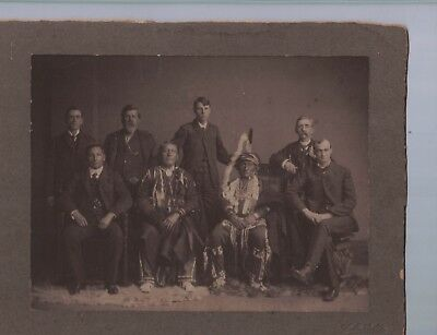 Cabinet Card Native American Kaws Indian Chief Washunga with Congressmen D.C.