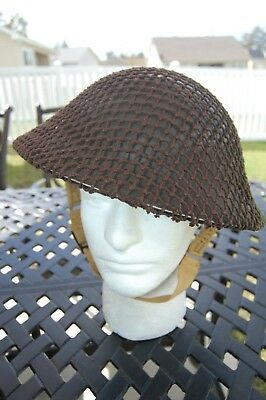 WW2 Canadian / British Helmet with net in mint condition dated 1941