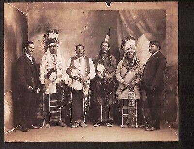 1880s Cabinet card Rev. Brindell Missionary to the Pawnee Native American Indian