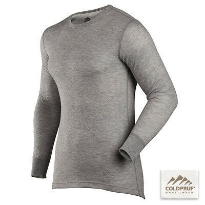 COLDPRUF® Base Layer, Men's Platinum™ Crew LARGE Heather Grey 95A LG GR