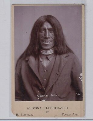Extremely Rare Native American Apache Indian Army Scout Yuma Bill