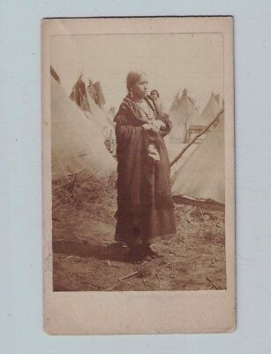 Rare Pair c. 1880's UPTON'S Indian Pictures Winona and Opo Sto Ka Sioux Beauty