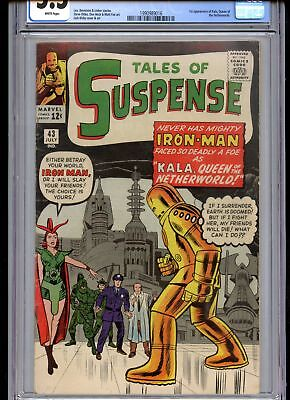 Tales of Suspense 43 CGC 5.5 White Pages 1st Kala