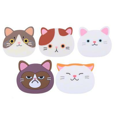 Cute Cartoon Cat Coffee Drink Cup Placemat Insulated Pad Ceramic Coasters H1