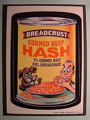1973 Topps Wacky Packages 1St Series  Breadcrust Hash  Ex-Mt