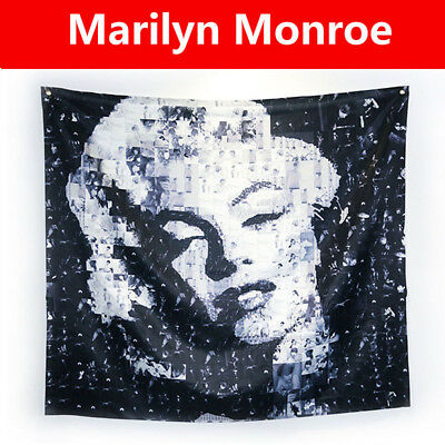 Marilyn Monroe Tapestry Vintage Wall Hanging Bedspread Tablecloth 125*140
