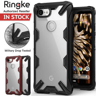 Google Pixel 3 XL Case Genuine RINGKE FUSION X Clear Back ShockProof Hard Cover