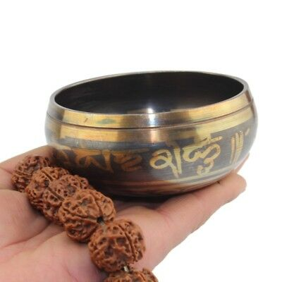 US 8CM Antique Tibetan Nepal Singing Bowl Set for Relaxation and Healing