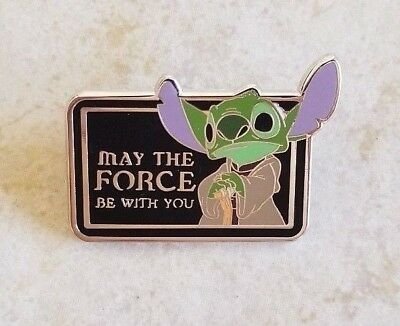 Pin Trading Disney Pins Star Wars Stitch Yoda May the Force Be With You