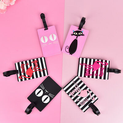 Cute Luggage Tag Travel Suitcase Bag Id Tags Address Label Baggage Card Holder