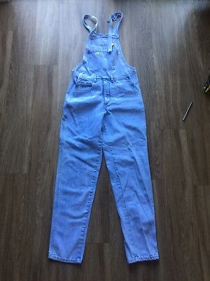 Guess Jeans Vintage Acid Wash Denim Overalls size men's S VTG 80s 90s Rap Music