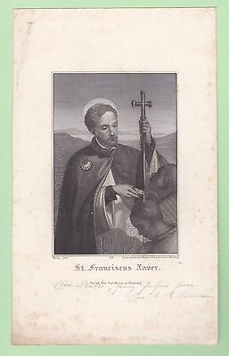 Santino Ottocento S.francesco Saverio  Canivet Pieuse Holy Card Carl Mayer