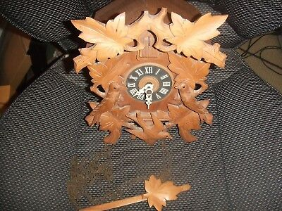 Vintage Regula  German Cuckoo Clock Light Oak  - for spares or repairs