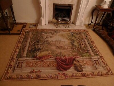 Vintage Tapestry Of Chateau Vaux Le Vicomte France £634 Mint Condition