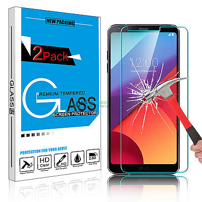 2x 9H Premium Clear 100% Real Tempered Glass Screen Protector Film for LG G6