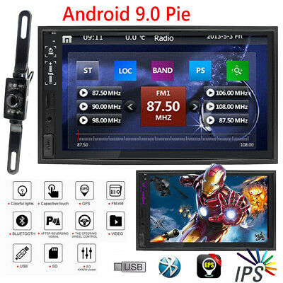 "HD Sony lens Double 2Din 7""Car Stereo Radio NO DVD Player Android 9.0 GPS SD BT"