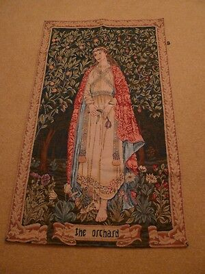 Beautiful Vintage French Tapestry The Orchard Great Condition