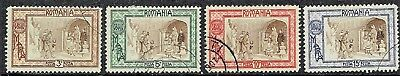 Romania 1907 Used Set X 4 .  As Is See Scan.