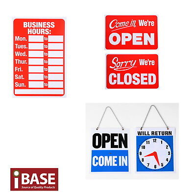 Business Hours Open Close Sign Clock Office Business Shop Door Restaurant Window